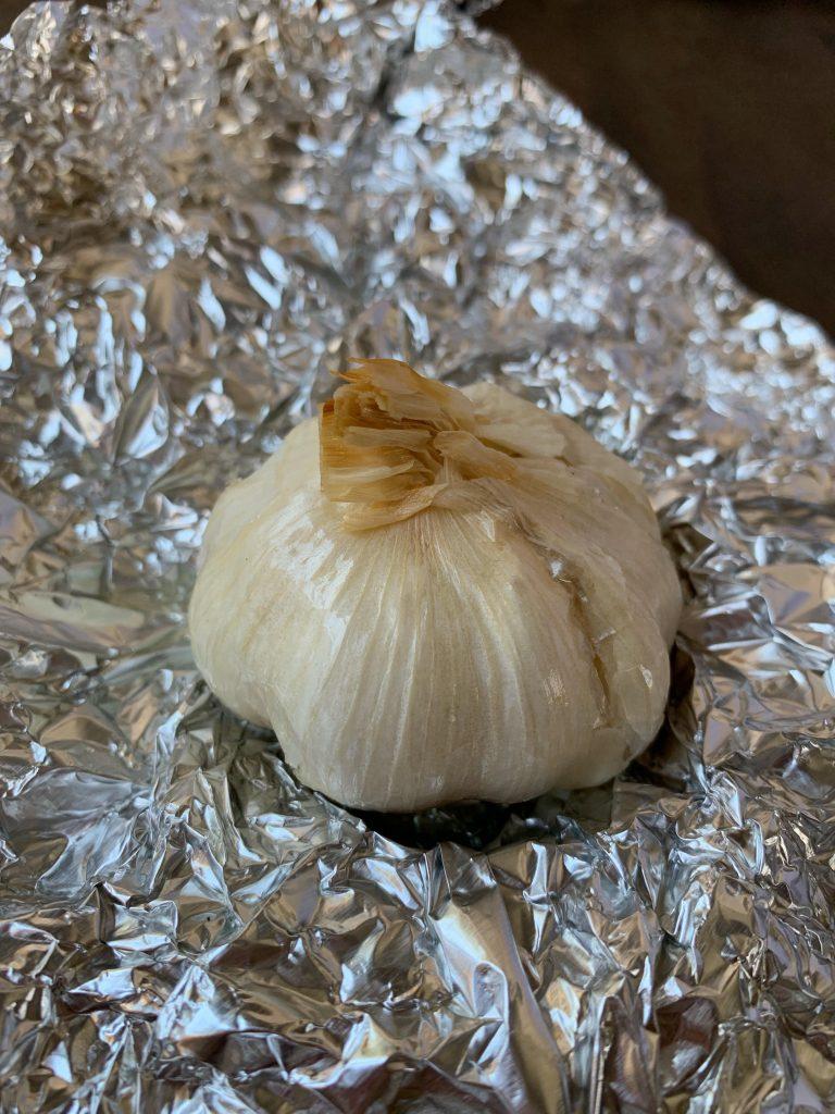 whole roasted garlic bulb