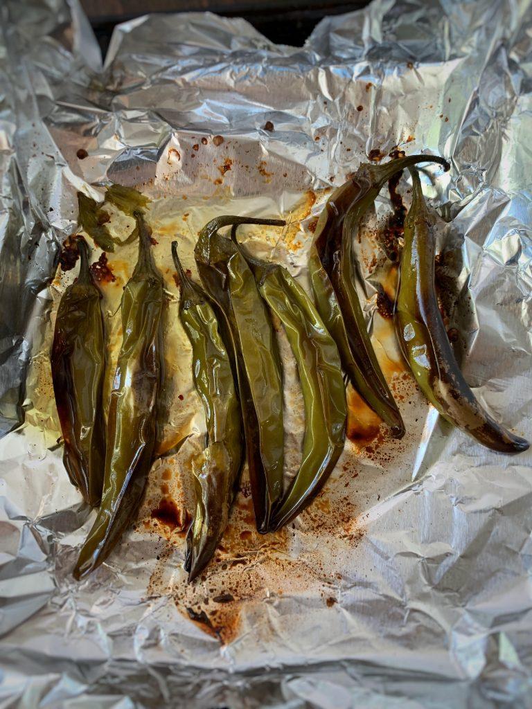 roasted serrano peppers