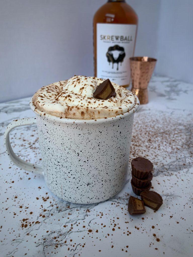peanut butter hot cocoa in mug